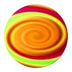 Abstract Rainbow Swirl Pattern Round Car Magnet