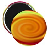Abstract Rainbow Swirl Pattern Magnet
