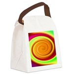 Abstract Rainbow Swirl Pattern Canvas Lunch Bag