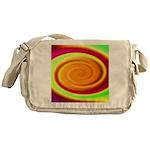 Abstract Rainbow Swirl Pattern Messenger Bag