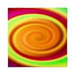 Abstract Rainbow Swirl Pattern Queen Duvet