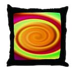 Abstract Rainbow Swirl Pattern Throw Pillow