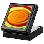 Abstract Rainbow Swirl Pattern Keepsake Box
