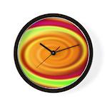 Abstract Rainbow Swirl Pattern Wall Clock