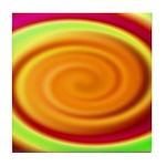 Abstract Rainbow Swirl Pattern Tile Coaster