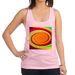Abstract Rainbow Swirl Pattern Racerback Tank Top