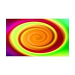 Abstract Rainbow Swirl Pattern 35x21 Wall Decal
