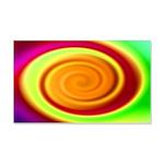 Abstract Rainbow Swirl Pattern 20x12 Wall Decal