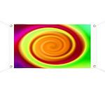 Abstract Rainbow Swirl Pattern Banner