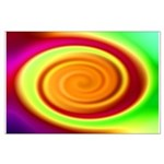 Abstract Rainbow Swirl Pattern Large Poster