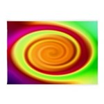 Abstract Rainbow Swirl Pattern 5'x7'Area Rug
