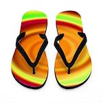 Abstract Rainbow Swirl Pattern Flip Flops