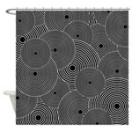 Black and White Retro Pattern Shower Curtain