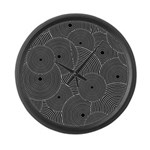 Black and White Retro Pattern Large Wall Clock