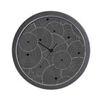 Black and White Retro Pattern Wall Clock