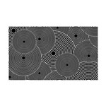 Black and White Retro Pattern 35x21 Wall Decal