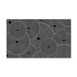 Black and White Retro Pattern 20x12 Wall Decal