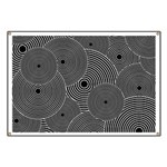 Black and White Retro Pattern Banner