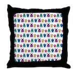 Kawaii Monster Pattern Throw Pillow