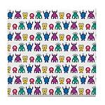 Kawaii Monster Pattern Tile Coaster
