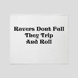 Ravers Trip Throw Blanket