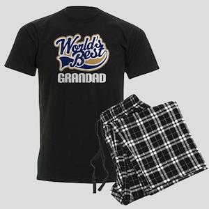 Worlds Best Grandad Men's Dark Pajamas