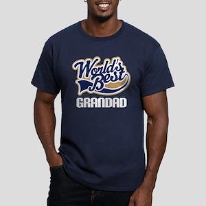 Worlds Best Grandad Men's Fitted T-Shirt (dark)