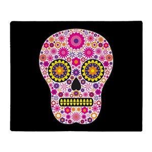 Pink sugar skull blankets cafepress mightylinksfo