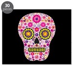 Pink Mexican Flower Skull Puzzle