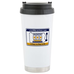 visitPAcasinos Logo Stainless Steel Travel Mug