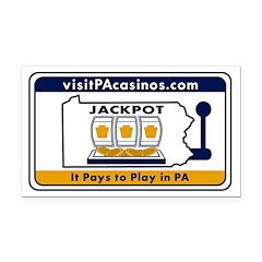 visitPAcasinos Logo Rectangle Car Magnet