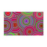 Pink and Green Retro Pattern 35x21 Wall Decal