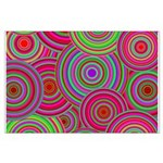 Pink and Green Retro Pattern Large Poster