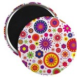Hippie Rainbow Flower Pattern 2.25