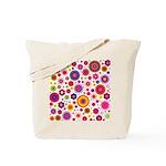 Hippie Rainbow Flower Pattern Tote Bag