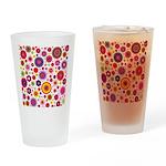 Hippie Rainbow Flower Pattern Drinking Glass
