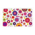 Hippie Rainbow Flower Pattern 35x21 Wall Decal