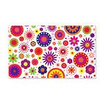 Hippie Rainbow Flower Pattern 20x12 Wall Decal