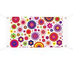 Hippie Rainbow Flower Pattern Banner