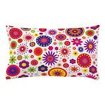 Hippie Rainbow Flower Pattern Pillow Case