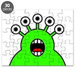 Kawaii Green Alien Monster Puzzle