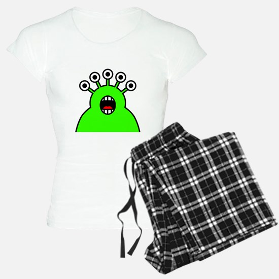 Kawaii Green Alien Monster Pajamas