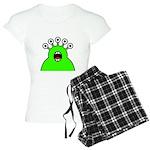 Kawaii Green Alien Monster Women's Light Pajamas