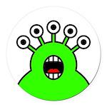 Kawaii Green Alien Monster Round Car Magnet