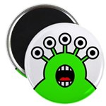 """Kawaii Green Alien Monster 2.25"""" Magnet (100"""