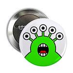 """Kawaii Green Alien Monster 2.25"""" Button (100"""