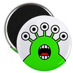 Kawaii Green Alien Monster Magnet