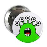 """Kawaii Green Alien Monster 2.25"""" Button"""