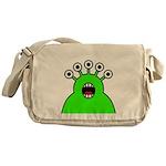 Kawaii Green Alien Monster Messenger Bag