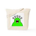 Kawaii Green Alien Monster Tote Bag